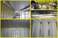 ZieZoo uit Volkel maakte met staalkabel een automatische installatie voor de Hyena verblijven. Door middel van katrollen kunnen de hokken veilig open en dicht gedaan worden. Lees het blog: http://www.staalkabelstunter.com/blogs/staalkabel-blog/hyena-verblijven-veilig-met-staalkabel/