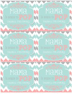 mrs this and that baby shower banner free downloads yipee - Ready To Pop Labels Template Free