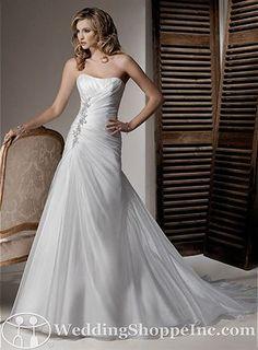 "Maggie Sottero Wedding Dress ""Debbie"". Simply elegant, dropped waist. - i think i found my dress :)"