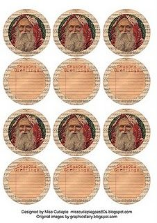 sweet xmas printable labels/tags/stickers