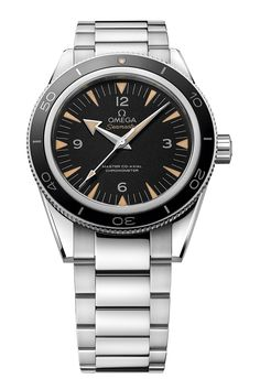 """Omega Seamaster 300 Master Co-Axial Watch """"Vintage-inspired pieces are still very much the rage at this year's Baselworld and from Omega comes the new Seamaster 300 Master Co-Axial, which is based on the original Seamaster 300 from 1957. It has a 41mm case, sapphire glass, features the distinctive broad-arrow hour hand, and is also water resistant to 300m..."""""""