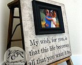 Wall hanging with frame and Rascal Flatts lyrics, love it! Must make :)
