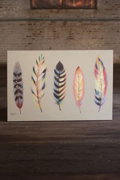 Five Feathers Oil Painting