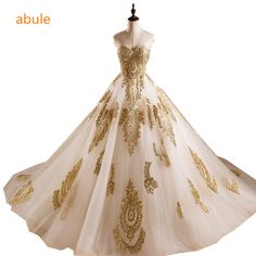 abule princess Bridal Gown Sweetheart Neckline Applique Wide Hemline luxurious customize Wedding Dresses vestido de noiva-in Wedding Dresses from Weddings & Events on Aliexpress.com | Alibaba Group