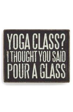 Yoga class?