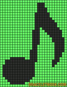 Note music perler bead pattern, thought  It would be cool to do a quilt like this