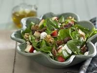 Michigan Apple Recipes - Apple Salad with Bacon and Goat Cheese
