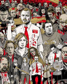 SHAUN OF THE DEAD Mondo Poster by Tyler Stout