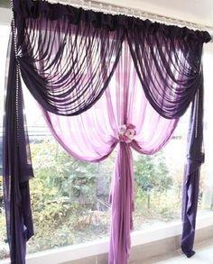 Korean Amer an home village romant fhsia layer 2 living room bay window curtain screens finished customized - ZZKKO http://zzkko.com/n3510 $43.63 USD