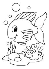 fish coloring pages-peixe