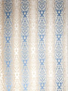 Vervain pattern Cambay in color Bluejay.
