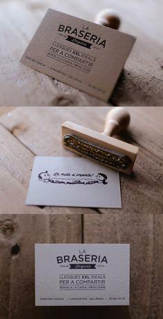 Business Card for La Braseria...love the simplicity