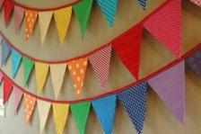 Eco-Friendly Reusable Fabric Bunting Banner by LittleBirdsBoutique Fabric Bunting, Bunting Garland, Buntings, Fabric Banners, Paper Bunting, Fabric Garland, Diy Garland, Rainbow Room, Rainbow Birthday