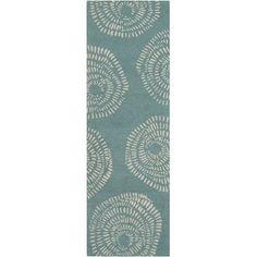 "Lotta Jansdotter Decorativa Teal Floral Area Rug Rug Size: Runner 2'6"" x 8'"