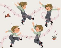 Jean petit qui danse #song #childrenbook #fleuruseditions #character #illustration