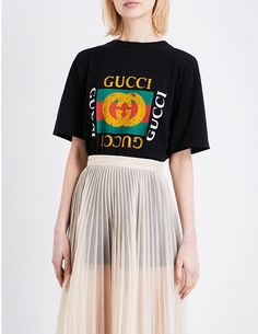 Embroidered-logo T-shirt by Gucci at ShopStyle.