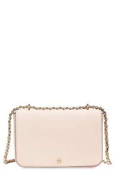 TORY BURCH 'Robinson' Leather Convertible Shoulder Bag. #toryburch #bags #shoulder bags #leather #lining