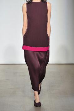 Barbara Casasola|Pleated crepe de chine tunic|NET-A-PORTER.COM- love the color combination !