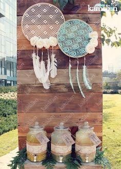 www.kamalion.com.mx - Decoración / Boho chic/ Picnic / Teepee / Baby Shower / Mint / Aguas / Drinks / Dreamcatcher / Atrapasueños / Bebidas / Bohemio.