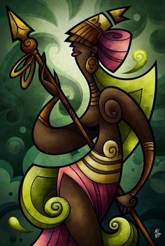 Iemanja, the queen of water and the mother of orixas. Ifa Religion, Orishas Yoruba, Black Art Pictures, Artwork Images, Unusual Art, Afro Art, Cool Art Drawings, Indigenous Art, Naive Art