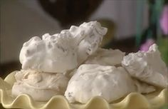 Traditional divinity recipe, just like Grandma used to make it. Perfect for holiday entertaining, or anytime of the year. Divinity melts in your mouth. Divinity Fudge, Divinity Recipe, Divinity Candy, Fudge Recipes, Candy Recipes, Holiday Recipes, Dessert Recipes, Holiday Treats, Christmas Recipes