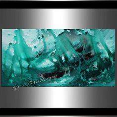 Turquesa mar ORIGINAL abstracto pintura abstracta