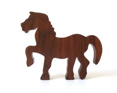Horse Wood Toy Wooden Pony Child Safe Wood Toy Wooden Farm Animals Londonberry Farm Country Animals Walnut