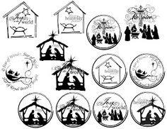 Free Printable Christmas ornaments The Sew*er, The Caker, The CopyCat Maker: Random Printables Noel Christmas, Christmas Nativity, Christmas Projects, All Things Christmas, Holiday Crafts, Christmas Design, Christmas Stencils, Christmas Scenes, Printable Christmas Ornaments