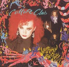 Culture Club: Waking Up with the House on Fire Visual explosion of llustrated naked contortionists on fire and the beautiful Boy George surrounded by awkwardly cropped images. Rock & Pop, Pop Rocks, Boy George, 80s Album Covers, Music Covers, Fire Art, Culture Club, 1980s Pop Culture, Cd Album