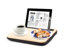 iBed Lap Desk Wood: It's the ultimate Netflix/morning email hybrid accessory. Use your tablet on a bed, in a plane and while you eat. This sturdy non-slip surface desk has a micro-bead cushion for maximum comfort. Works with most tablets.