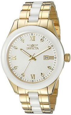 Invicta Men's 18154 Specialty Analog Display Swiss Quartz Two Tone Watch #quartz #tone #watch #swiss #display #mens #specialty #analog #invicta