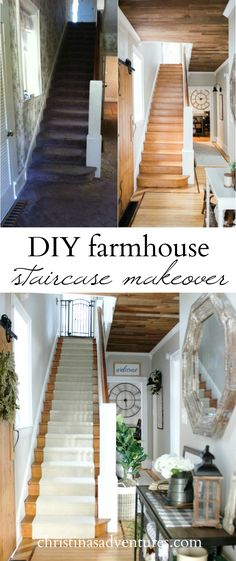 This fixer upper story is incredible!  This house has a farmhouse feel and pays homage to the original Victorian bones.  This DIY staircase makeover is a wonderful combination of function & style!
