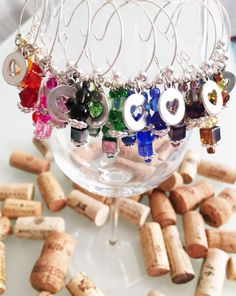 Wine Charm Favors Bridal Shower Favors Wedding by LasmasCreations