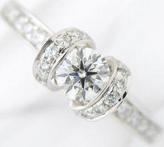 ティファニーリボンダイヤモンド0.44ctH-IF-EXリングプラチナ【中古】(2200000188526)
