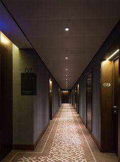 Nulty - St Dunstan's Court, Fetter Lane, London - Lighting Design Scheme Corridor Hallway Apartment Entrances