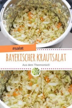 Bavarian coleslaw with the Bayerischer Krautsalat mit dem Thermomix® With this recipe you are a welcome guest at every barbecue party. Coleslaw is made so easy thanks to the Thermomix. Coleslaw Sandwich, Coleslaw Salad, Vegan Coleslaw, Healthy Coleslaw Recipes, Salad Recipes, Vegan Recipes, Vegan Food, Jackfruit Burger, State Fair Food