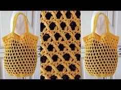 (코바늘가방뜨기)crochet net bag/(초보자분도 뜰수 있습니다.하루만에 만들수 있습니다./뜰래아 - YouTube