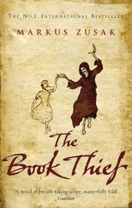 "The Book Thief by Markus Zusak. I just finished reading this book and while catching my breath after crying through the last 50 pages of this book I cannot adequately describe it. So I will just quote 2 reviewers on amazon.com: ""Very rarely a book comes out that steals my breath away. The Book Thief, by Markus Zusak is a revelation. Narrated by Death, this story follows Leisel as she steals books in Nazi Germany while she and her best friend Rudy discover the power of words, language and friendship. Zusak's writing is mesmerizing; it's sarcastic, emotional, sophisticated and wondrous.  "" and ""If you love to read and if you love to care about the characters you read about and if you love to eat words like they're ice cream and if you love to have your heart broken and mended on the same page, this book is for you. """