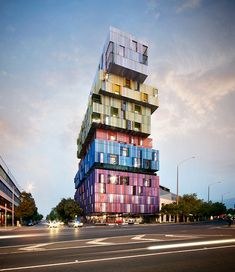 """Jackson Clements Burrow's """"Lego tower"""" in St Kilda taking shape 