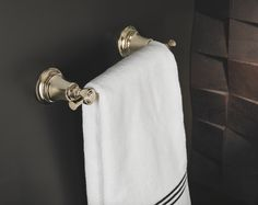 Collection: Rook • Finish: Brilliance Polished Nickel • Product: Towel Bar • Space designed by: Christian May