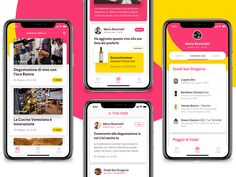 Events app, Mobile ui by Gaia Zuccaro