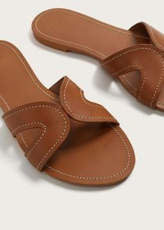 Mango Stich Leather Sandals - Plus Sizes Shoes Flats Sandals, Strappy Sandals, Flat Sandals, Sandals 2018, Heels, Leather Sandals Flat, Leather Slippers, Leather Shoes, Indian Shoes