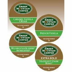 Green Mountain Flavored Variety K-cups) Keurig Vanilla Cream, French Vanilla, Coffee Pods, Coffee Beans, Coffee Candy, Green Mountain Coffee, Coffee Varieties, Dark Roast, Blended Coffee