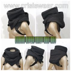 Crisiswear Sub Zero Outlaw - Hooded Cyberpunk Cowl Cold Weather Fully Adjustable Winter Headwear Black Gray Olive Fleece Style deep Neck Mode Cyberpunk, Winter Headwear, Apocalyptic Fashion, Mens Fashion, Fashion Outfits, Character Outfits, Costume Design, Diy Clothes, Cosplay Costumes