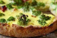 Receita de Quiche de queijo com brócolis em receitas de tortas salgadas, veja…