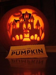 Haunted House Pumpkin carving