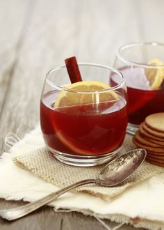 Pomegranate apple cider -- hot drink for chilly fall weddings