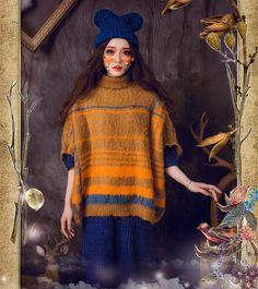 Crochet red Bear ear knitting wool hat от Sexy8baby на Etsy