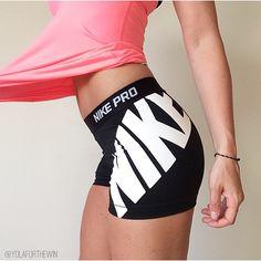 nike 'pro' logo shorts
