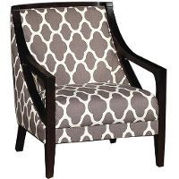 A738-1(2a)CARBONCH  Carbon  39  Gray Patterned Upholstered Accent Chair